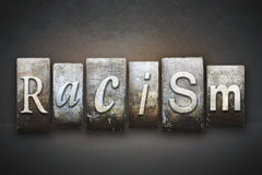 Racism Theme Letterpress. The word RACISM written in vintage letterpress type royalty free stock photos