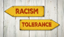 Racism or Tolerance Royalty Free Stock Photos