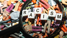 Racismo Imagen de archivo libre de regalías