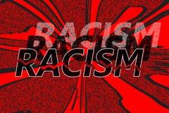 Racismo de la palabra en diversas sombras Imágenes de archivo libres de regalías