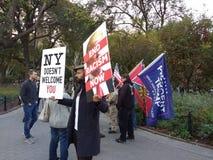 Racismo em Washington Square Park, NYC, NY, EUA Imagens de Stock Royalty Free