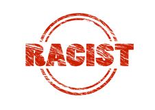 Racist red rubber stamp Royalty Free Stock Photography