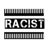 RACIST stamp on white. Background. Signs and symbols series royalty free illustration