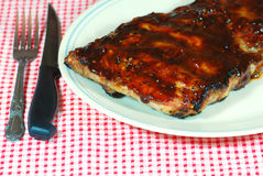 Rack of Barbecue Ribs Stock Image