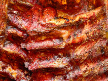 Rack of BBQ ribs Royalty Free Stock Image
