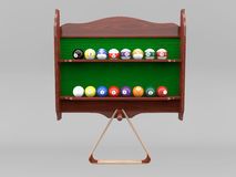 Rack of billiard balls Royalty Free Stock Photography