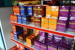 Rack with black Ceylon tea Royalty Free Stock Image