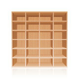 Rack Book Shelf Wooden Texture Stock Photography