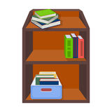 A rack with books and documents. Office furniture single icon in cartoon style Isometric vector symbol stock Royalty Free Stock Photography