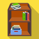 A rack with books and documents. Office furniture single icon in flat style Isometric vector symbol stock illustration Stock Images