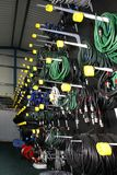 Rack of cables Royalty Free Stock Photography