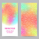 Rack Card With Mandala1 Royalty Free Stock Images