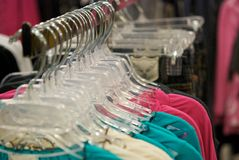 Rack of Clothing for Sale Stock Images