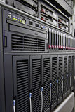 Rack of computer. Network equipment Royalty Free Stock Image