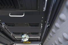 Rack computer servers. Network servers in computer rack royalty free stock image