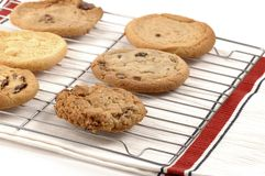 Rack of Cookies royalty free stock photo