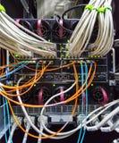 Rack in the data center Stock Photos