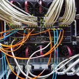 Rack in the data center Stock Photo
