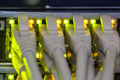Rack in the data center Royalty Free Stock Photos