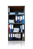 Rack with documents. On white Royalty Free Stock Photography