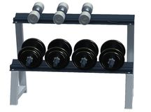 Rack of dumbbells Royalty Free Stock Photos