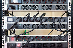 Rack with electrical outlets 220 Stock Images