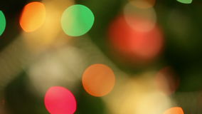 Rack focus christmas lights stock footage