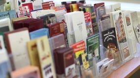 Rack Focus over Travel Brochures stock video