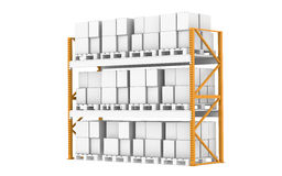 Rack, Full. Part of Warehouse serie Royalty Free Stock Photos