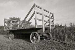 Rack for hauling bundles(black and white) Royalty Free Stock Image