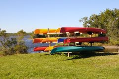 Rack of Kayaks Royalty Free Stock Image