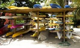 Rack of Kayaks Royalty Free Stock Photography
