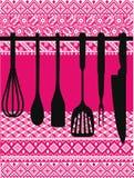 Rack of kitchen utensils. Royalty Free Stock Photo