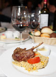 Rack of lamb with couscous Stock Photography