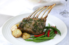 Rack of Lamb Dinner Stock Photo