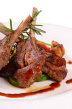Rack of lamb grill with an a asparagus Royalty Free Stock Images