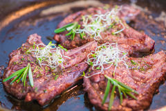 Rack of Lamb with Pasta Stock Image