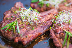 Rack of Lamb with Pasta Royalty Free Stock Photo