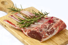 Rack of Lamb with Rosemary Stock Photography