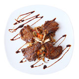 Rack of lamb top view Stock Photos