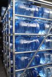 Large five gallon water bottles stock photos