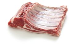 Rack of Lozere lamb, raw meat Royalty Free Stock Photography