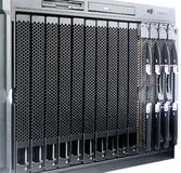Rack mount blade center Royalty Free Stock Photo