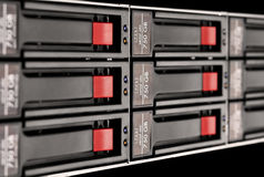 Rack-mounted disk array Stock Photography