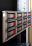 Rack-mounted disk array. Server Stock Photos