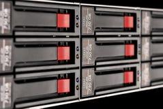 Rack-mounted Plattereihe Stockfotografie