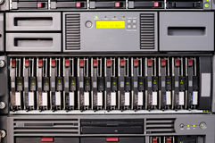 Rack mounted server. Rack mounted disk array  and server Royalty Free Stock Photos