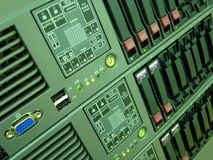 Rack mounted server computer Royalty Free Stock Images