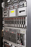 Rack mounted servers. Rack mounted system storage and servers Stock Photo