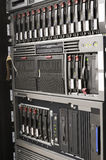 Rack mounted servers Stock Images